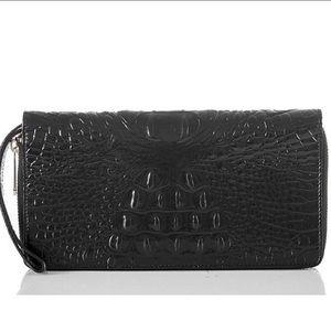 NWT BRAHMIN Skyler Wallet in Black